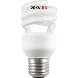 Лампа спираль КЭЛ-S Е27 20Вт 6500К Т2 ИЭК