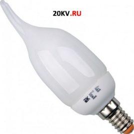 Лампа свеча КЭЛ-CВ Е14 9Вт 2700К ПРОМОПАК 6 штИЭК