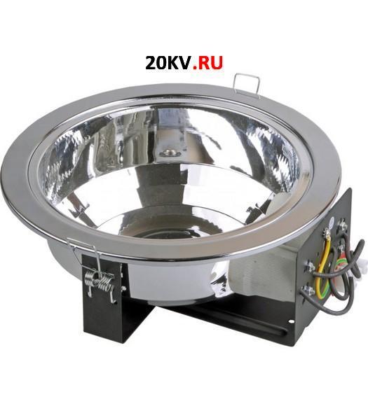 Светильник ЛВО1501 никел/круг без стекла Е27 2х26 IP20 ИЭК