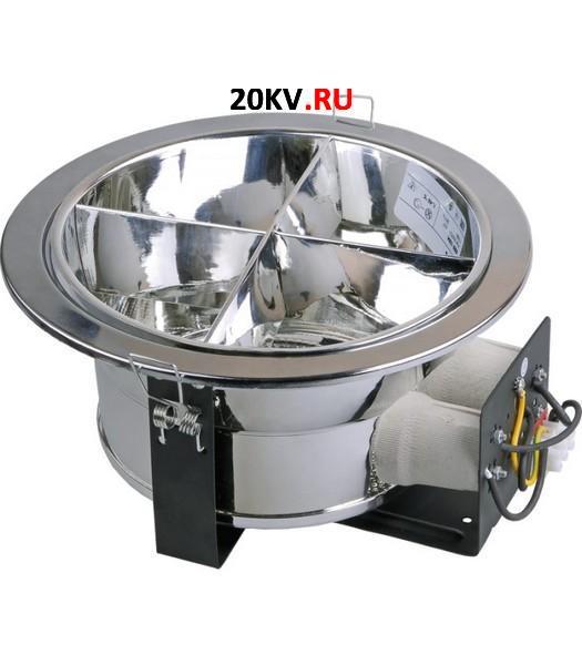 Светильник ЛВО1504 никел/круг с растром Е27 2х26 IP20 ИЭК