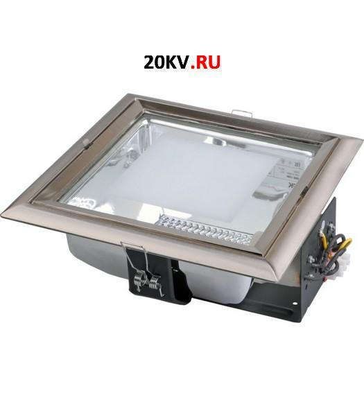 Светильник ЛВО1506 белый/квадр мат цент Е27 2х26 IP20 ИЭК