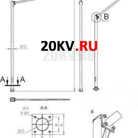 Светофорная стойка CC-7,5-6,0