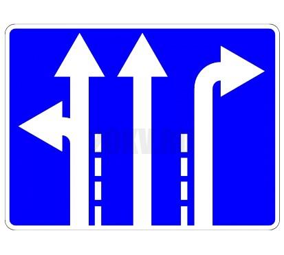 Дорожный знак «Направления движения по полосам»